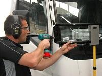 Ross installs a truck stone-guard
