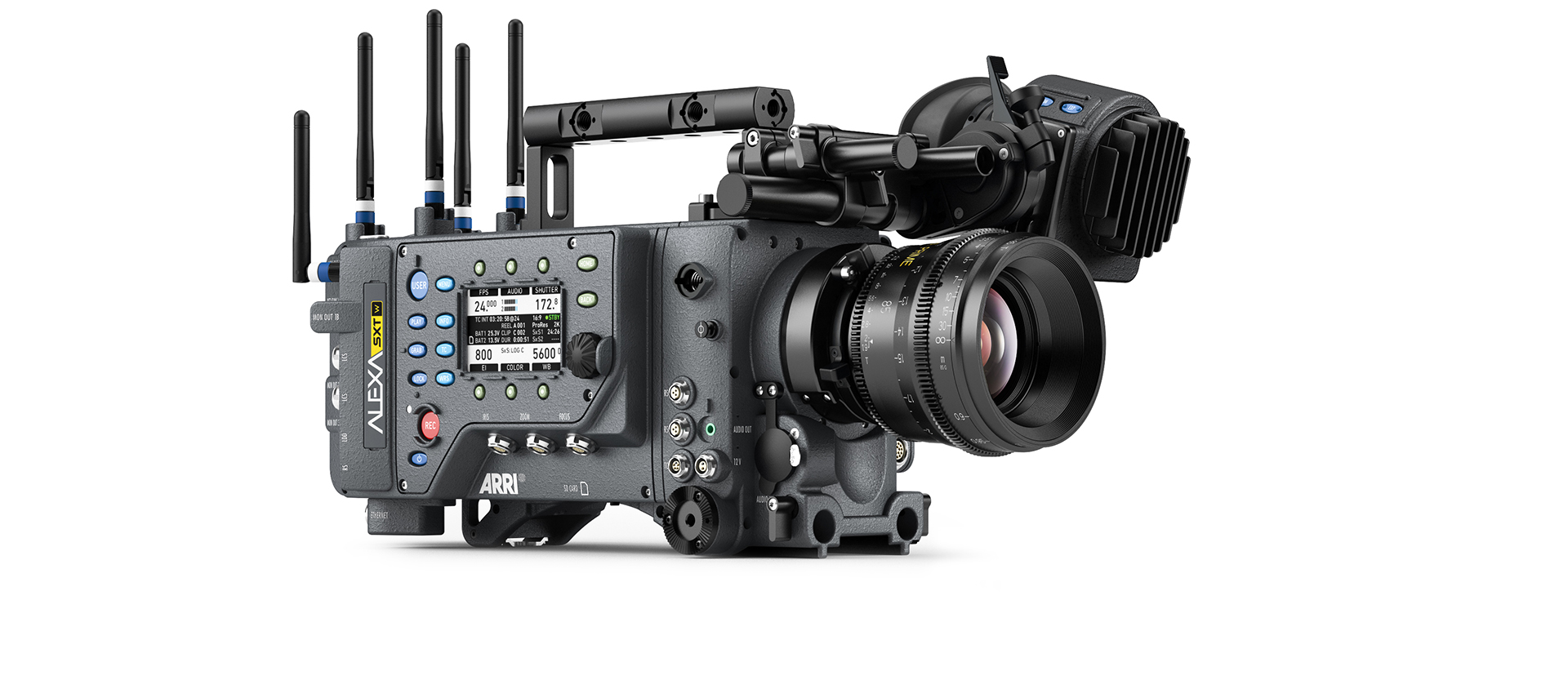 hight resolution of  the camera and fewer associated problems since cable failure is by far the most common technical hitch on set camera setup and power up are quicker