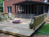 Wood Deck With Fire Pit - Fire Pit Ideas