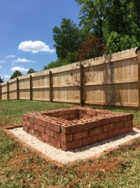 Square Brick Fire Pit - Fire Pit Ideas