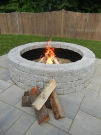 Retaining Wall Block Fire Pit - Fire Pit Ideas