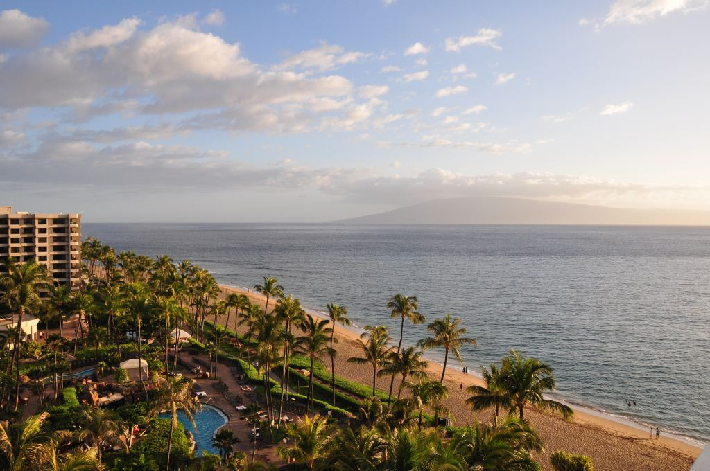 The spectacular location and view from the Westin Maui Resort, Hawaii. Credit: Curt Woodhall, ArrivalsTravel.com