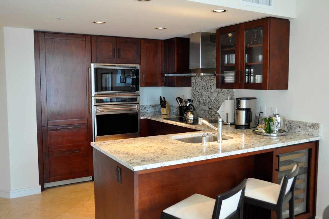 At the Trump hotel, you'll enjoy a five star amenities including a fully equipped luxury kitchen. Credit: Curt Woodhall