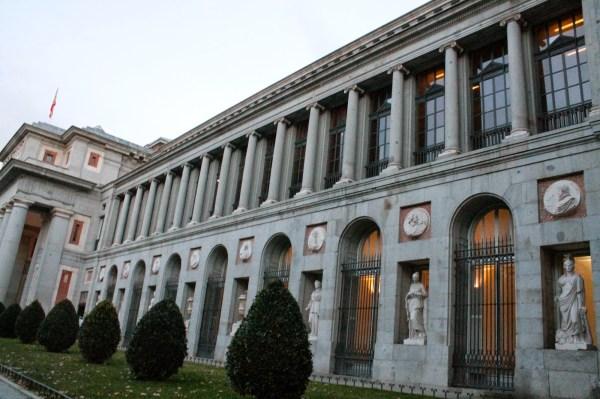 Prado Museum In Madrid Arriving High Heels