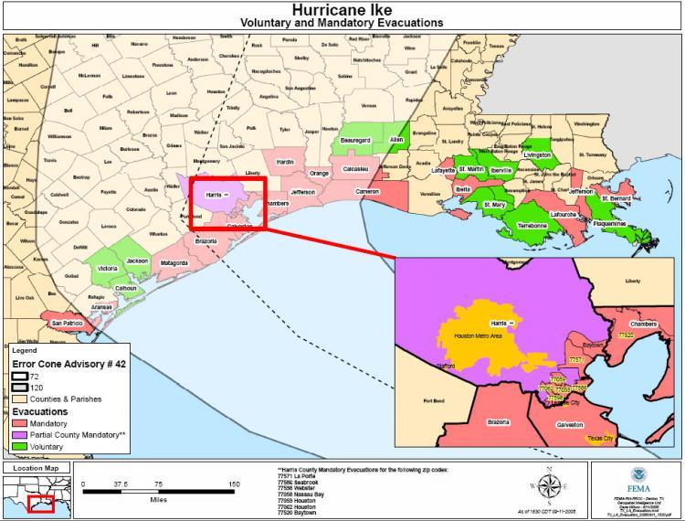 Order Evacuation Counties Under Florida