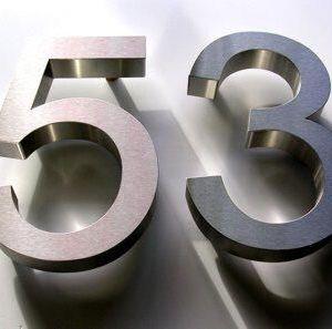 200mm high metal house numbers