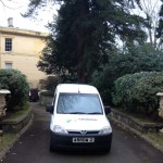 """img src=""""Arrow-Couriers-Arrow-2-Crop.jpg"""" alt=""""Arrow couriers small van with stately home in the background"""""""