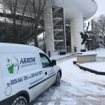 "img src="" IMG-20180228-WA0017.jpg"" alt=""Arrow Courier Services Small Van at Lords CC in the snow"""