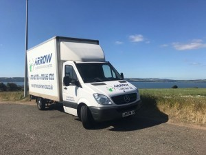 "img src=""Arrow-Courier-Services-Luton-with-the-Firth-of-Forth-in-Background.jpg"" alt=""Arrow Couriers making a delivery close to the stunning Firth of Forth"""