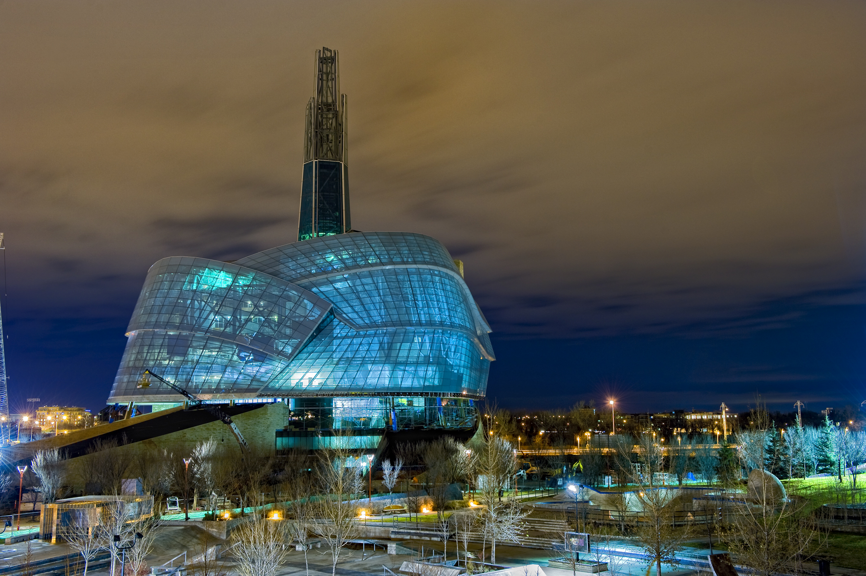 Canadian Museum of Human Rights - fabulous eyecatching building designed by the architect Antoine Predock