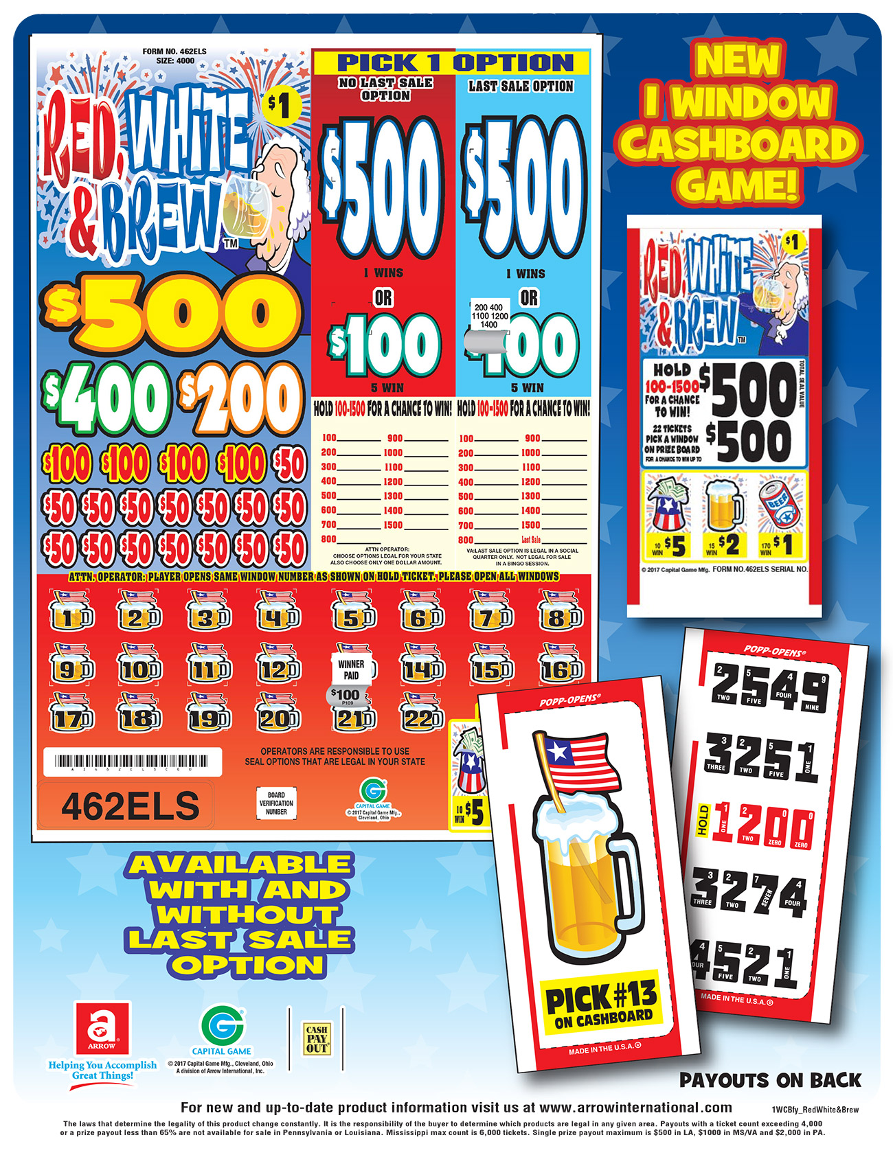 Pull Tabs Gt Seal Games Cashboard