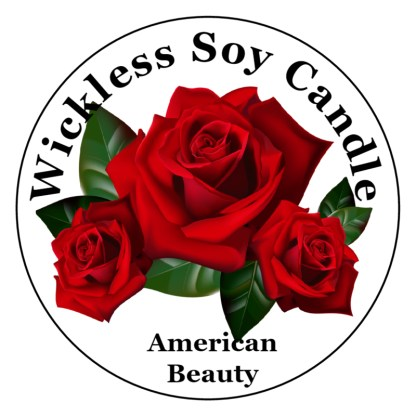 american beauty rose wickless candle