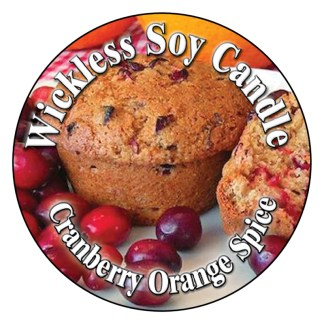 Cranberry Orange Spice Wickless Candle