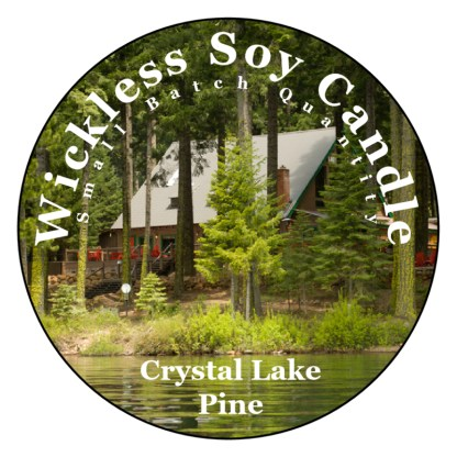 Crystal Lake Pine Wickless Candle