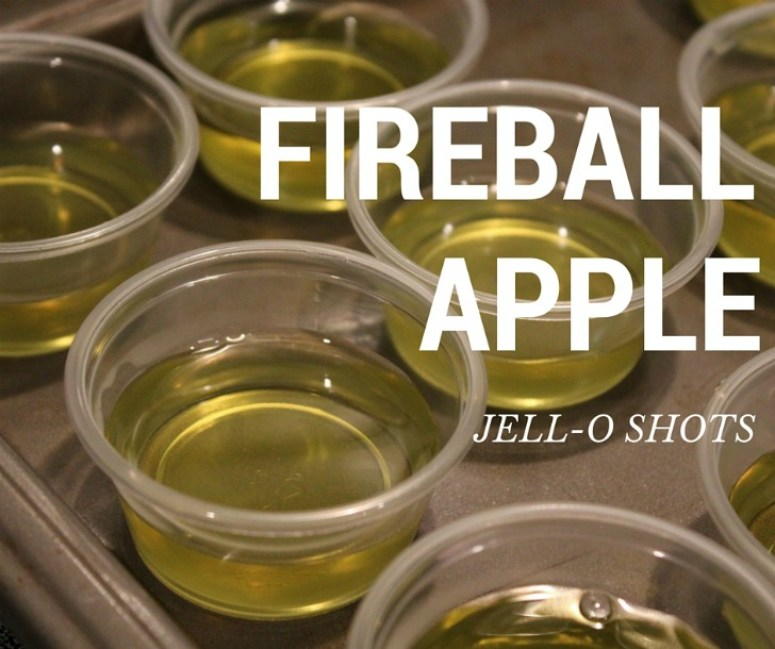 Enjoy Fireball Jell-O shots
