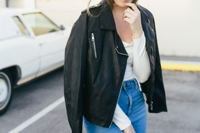layering with leather for fall - arrows & Awe