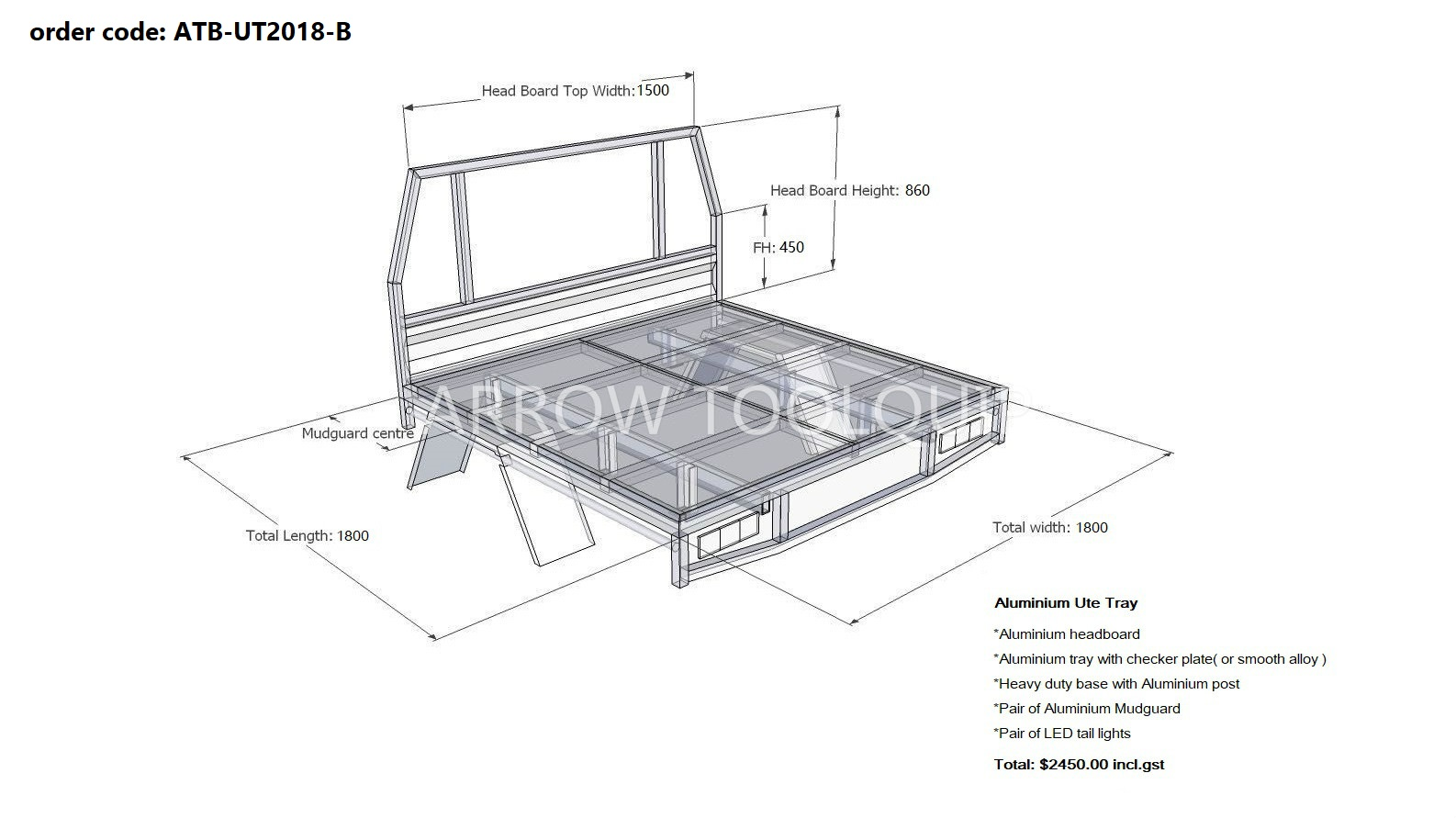 Arrow Trays Atb Ut B