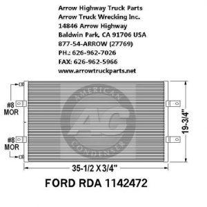 Ford L9000, Sterling LT9511 & LT8511 bumper: chrome: