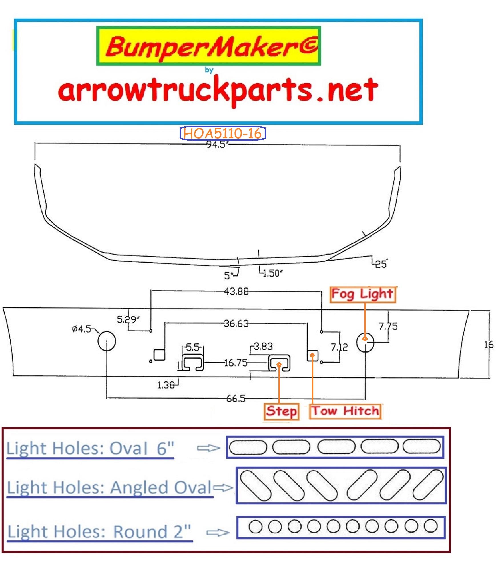 hight resolution of product b u bumpermaker hoa5110 16y jpg