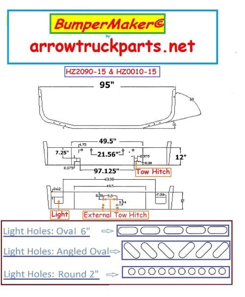 small resolution of bumpermaker peterbilt 367 set back axle 2007 newer