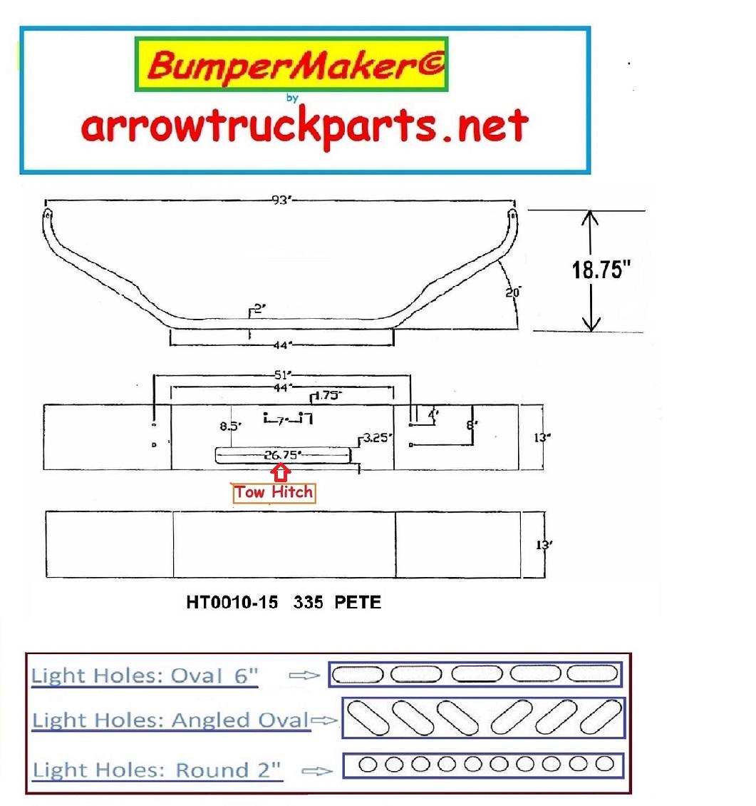 hight resolution of peterbilt 335 bumper