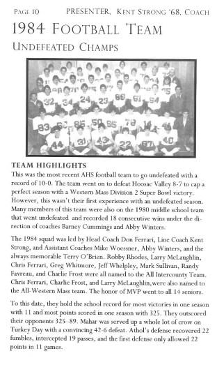 1984 AHS Football Team