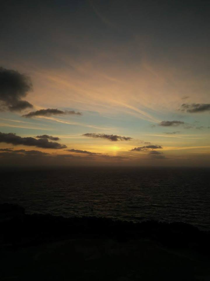 Sunset view from Wardija Punic Temple