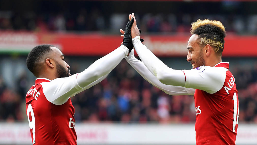 Image result for auba and lacazette