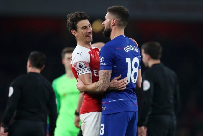 Image result for giroud arsenal chelsea