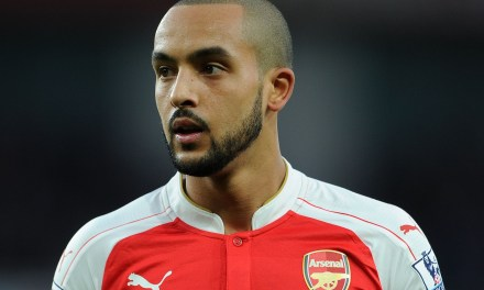 Theo Walcott literally going nowhere
