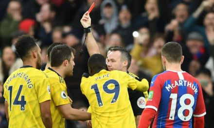 Palace 1-1 Arsenal – Aubameyang sees red as Arsenal held