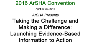 Image of text: Taking the Challenge and Making a Difference: Launching Evidence-Based Information to Action