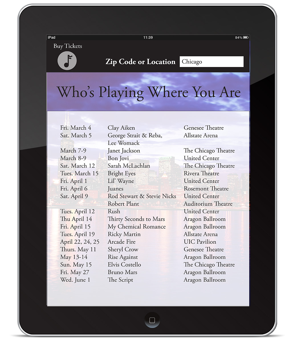 Concert Map