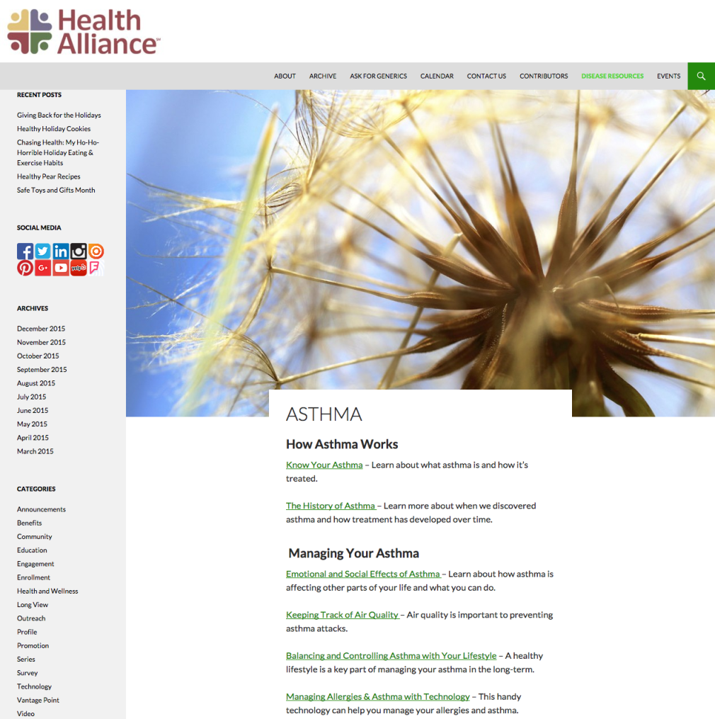 Asthma Blog Page