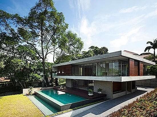 Rumah minimalis berkesan natural