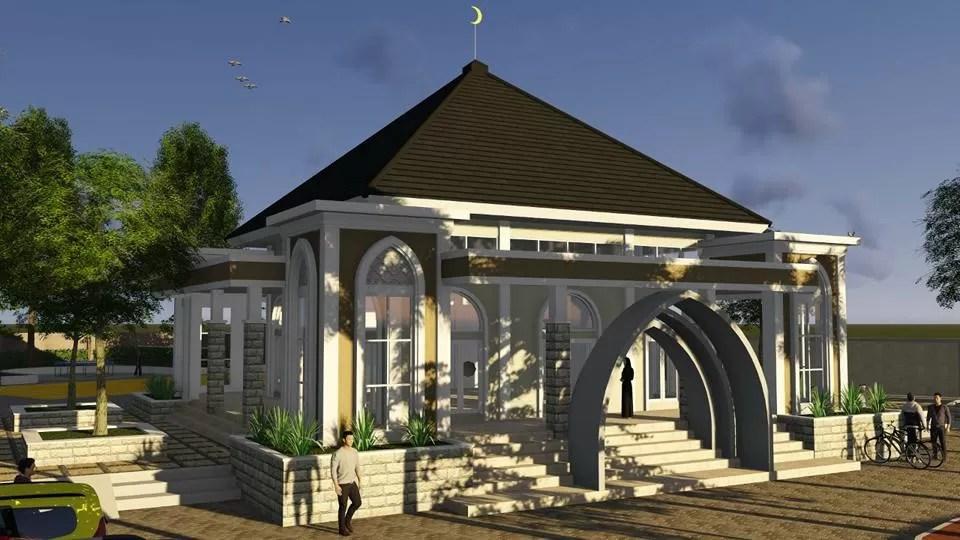 Desain Arsitektur Masjid Al-Muttaqien – Taman Galaxy