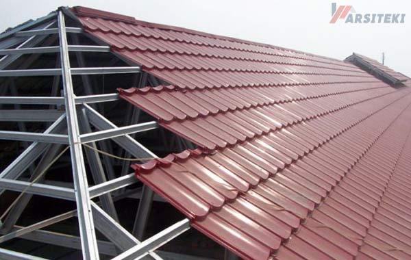 contoh rangka atap baja ringan minimalis 30 harga per batang terbaru 2020 arisiteki