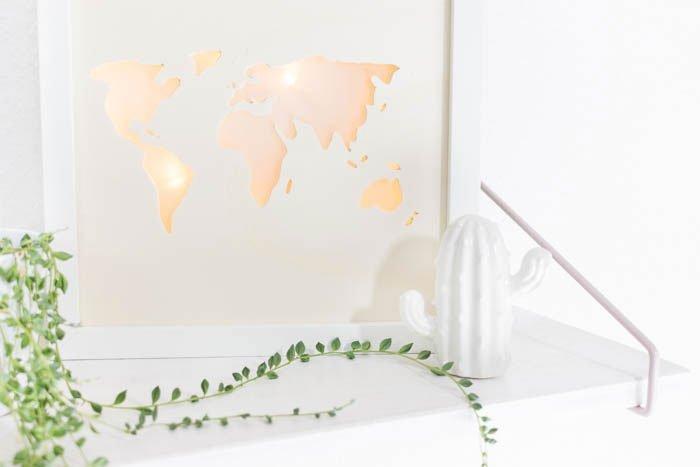 Beleuchtete Weltkarte  DIY Lightbox basteln  ars textura