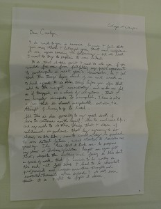 Kai Althoff's letter to Documenta 13 Artistic Director, Carolyn Christov-Bakargiev.