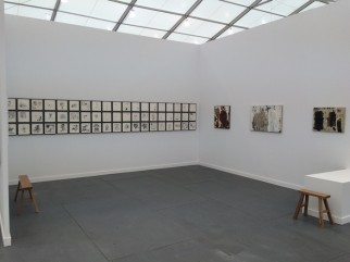 View of Vigo Gallery, London at Frieze New York, 2015, with work by Ibrahim el-Salahi.