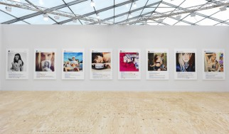View Gagosian Gallery at Frieze New York, 2015, with work by Richard Prince.