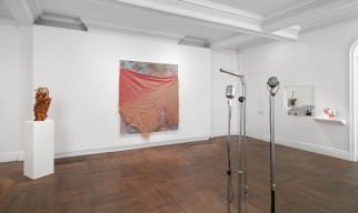 "View of ""David Hammons: Five Decades,"" Mnuchin Gallery, New York, 2016."