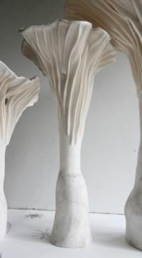 Naptali Porcelain Mushroom Lamp unlit group - Art Connections