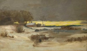 snowy landscape by Edward Hopper