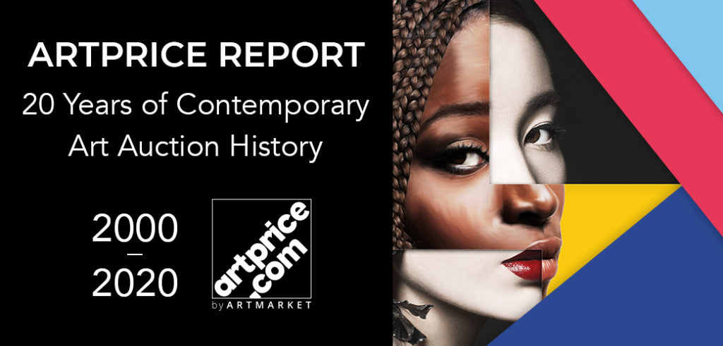 Combination of images of women for the cover of a report on Contemporary Art by Artprice