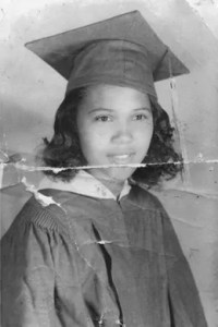 Black and white photo of civil rights activist Barbara Rose Johns