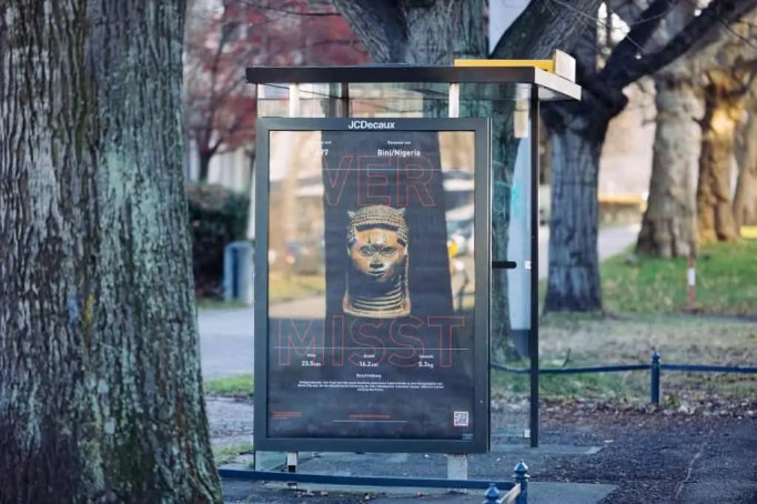 Poster series by Emeka Ogboh as seen in Dresden
