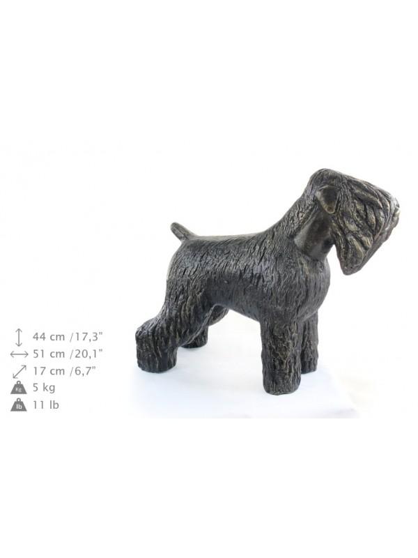Black Russian Terrier Statue Resin 628 Black