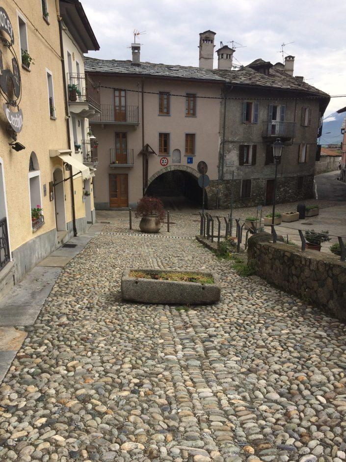 Aoste, pont romain, départ de l'étape