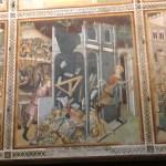 Le dôme entièrement décoré de fresques de l'école siennoise, véritable Sixtine du 14e siècle